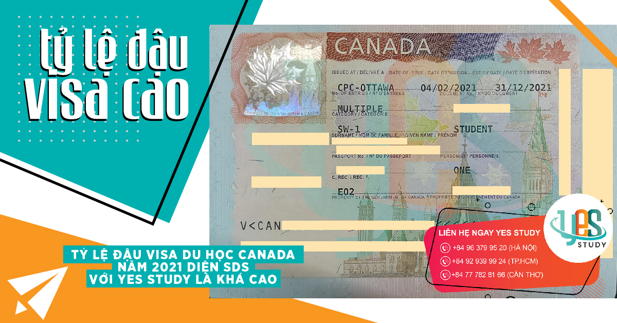 Image 11 High SDS Visa Acceptance Rate with Yes Study, Du Hoc Canada Nam 2021, Yes Study Education Group, Feb 2021