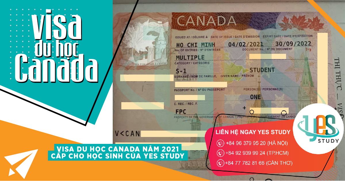 Image 18 Canadian Student Visa 2021 for Student from Yes Study, Du Hoc Canada Nam 2021, Yes Study Education Group, Feb 2021